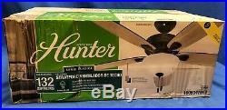 Hunter Stratford 52 in. LED Indoor Matte Black Ceiling Fan with Light Kit