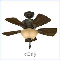 Hunter Watson 34 in. Indoor New Bronze Ceiling Fan with Light Kit / 229