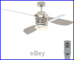 Indoor Brushed Nickel Ceiling Fan Pilot 60 inch and 52 inch with Light Kit
