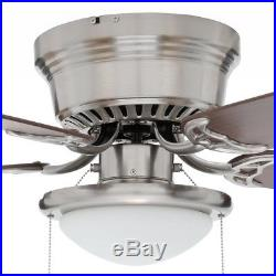 Indoor Ceiling Fan 52 Portable Commercial LED Light Kit Brushed Nickel New