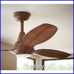 Indoor Ceiling Fan LED Light Kit 56 in. Remote Control Reversible-Motor