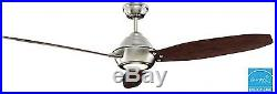 Indoor LED Glass Light Kit Dimmable Outdoor Brushed Nickel Ceiling Fan Blade New
