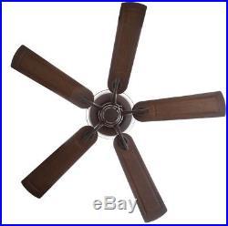 Indoor Outdoor Bronze Wet Rated Ceiling Fan Light Kit Antique Reversible 52 In