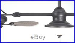 Indoor/Outdoor Downrod Mount Ceiling Fan with Light Kit (6-Blade)