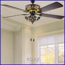 Indoor Violet Ceiling Fan River of Goods 52 in. Light Kit And Remote Control