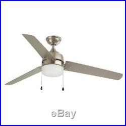 Industrial Home 60 in. LED Indoor/Outdoor Brushed Nickel Ceiling Fan withLight Kit