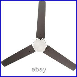Integrated LED Indoor/Outdoor Natural Iron Ceiling Fan with Light Kit 60 Inches