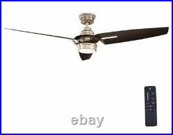 Iron Crest 60 in. LED DC Motor Indoor Brushed Nickel Ceiling Fan with Light Kit