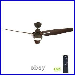 Iron Crest 60 in. LED DC Motor Indoor Espresso Bronze Ceiling Fan with Light Kit