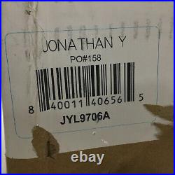 Jonathan Y 52 Inch Ceiling Fan Mandy LED 3-Light Kit Remote, Crystal Prism Drum