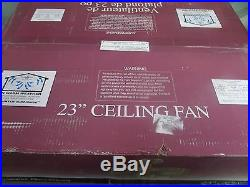 KENDAL LIGHTING AC-17723 23 CEILING FAN WithLIGHT KIT & REMOTE NATURAL IRON NIB