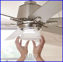 Kensgrove 54 in. Integrated LED Indoor Brushed Nickel Ceiling Fan with Light Kit
