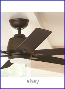 Kensgrove 54 in. Integrated LED Indoor Espresso Bronze Ceiling Fan with Light Kit