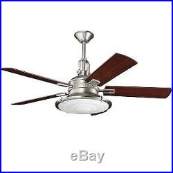 Kichler 300020AP 52 Indoor Ceiling Fan with Blades, Light Kit, Downrod and Remo