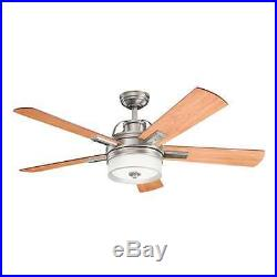 Kichler 300024 52 Lacey II Ceiling Fan Includes 5 Blades, LED Light Kit, Wall