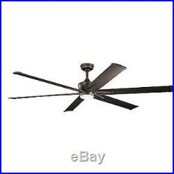 Kichler 300301OZ 80 Outdoor Ceiling Fan, Blades, Light Kit, and Wall Control