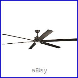 Kichler 300302OZ 96 Outdoor Ceiling Fan with Blades, Light Kit, Downrod and Wal