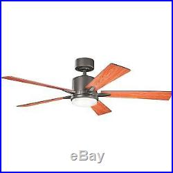 Kichler 330000OZ Lucian 52 Inch 5 Blade Indoor Ceiling Fan with LED Light Kit
