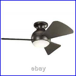 Kichler 330150OZ 34 Indoor / Outdoor Ceiling Fan with Blades, Light Kit and Wal