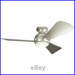 Kichler 330151NI 44 Indoor / Outdoor Ceiling Fan with Blades, Light Kit and Wal