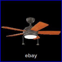 Kichler 330171OZ Olde Bronze 42 Indoor LED Ceiling Fan with Blades, Light Kit