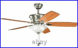Kichler Antique Pewter 52 Ceiling Fan With Light Kit