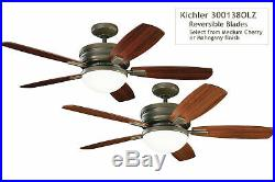 Kichler Carlson Carlson 52 5 Blade Ceiling Fan with Blades, Light Kit and Remot
