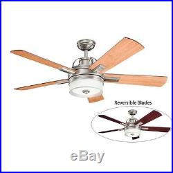 Kichler Lacey 52 Indoor Ceiling Fan with Blades, Light Kit, Downrod and Remote