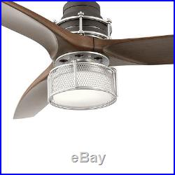 Kichler Lighting 54-in Brushed Nickel Ceiling Fan with LED Light Kit 3 Blade