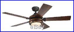 Kichler Lighting Barrington Wood Downrod, Indoor Ceiling Fan, Light Kit, Remote