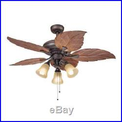Kichler Lighting Casual Bronze 52 inch Ceiling Fan with 3-light Kit