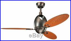 Kichler Oil Brushed Bronze 52 Ceiling Fan With Light Kit And Remote control