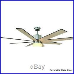 Kingsbrook 60 in. LED Indoor Brushed Nickel Ceiling Fan with Light Kit