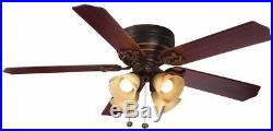 LED Indoor Iron Ceiling Fan Light Kit 52 in. 3-Speed Reversible Control