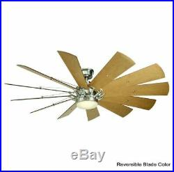 Large Ceiling Fan 60 Inch Blade LED Light Kit Remote Indoor Contemporary Rustic