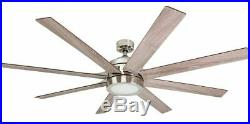 Large Ceiling Fan 62 Inch Blade LED Light Kit Remote Indoor Contemporary Modern