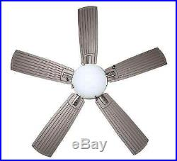 Large Indoor Outdoor Ceiling Fan Brushed Nickel Blades Frosted Glass Light Kit