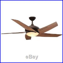 Large Room Ceiling Fan Light Kit Maple Blades Indoor Bronze Reverse Air Control