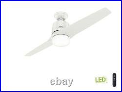 Leiva 54 in. LED Indoor Fresh White Ceiling Fan with Light Kit Remote Control
