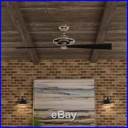 Lindbrook 52 in. Indoor Brushed Nickel Ceiling Fan with Light Kit Remote Control