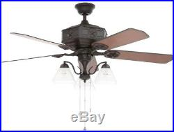 Lonestar II Texas Southwestern Style 52 in Natural Iron Ceiling Fan with Light Kit