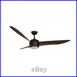 Lucci Air Nordic 56 in. Oil Rubbed Bronze Ceiling Fan with Light Kit & Remote 14