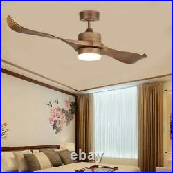 MERRA 52'' LED Indoor Natural Walnut Ceiling Fan With Light Kit & Remote Control