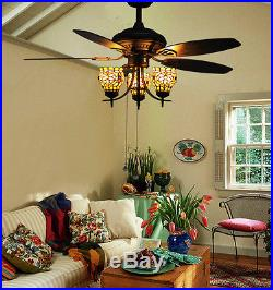 Makenier vintage tiffany stained glass flowers uplight ceiling fan makenier vintage tiffany stained glass flowers uplight ceiling fan light kit aloadofball Image collections