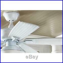 Marshlands 52 in. LED Indoor/Outdoor White Ceiling Fan with Light Kit