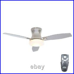 Marta 52 in. Indoor Brushed Nickel Ceiling Fan with Light Kit and Remote Control