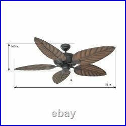 Martinique 52'' Ind/Outdoor Ceiling Fan with No Light Kit with R. C by Design House