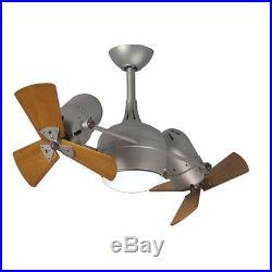 Matthews Fan Company DGLK-BN-WD Dagny 41 Rotational Ceiling Fan with Light Kit