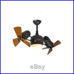 Matthews Fan Company Dagny with Light Kit Textured Bronze Wood Blades DGLK-TB-WD