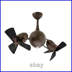 Matthews Fans Acqua 1-LT Ceiling Fan withLight Kit, Bronze/Black Wood AQ-TB-WDBK